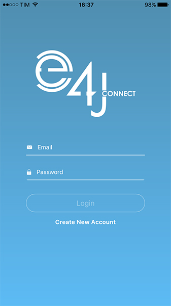e4jConnect Mobile App - Login
