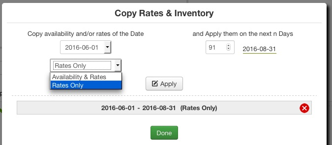 Copy Only Rates
