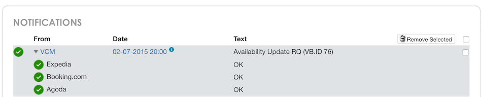 Notification Availability Update Request